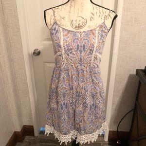 La hearts boho paisley strappy mini dress M